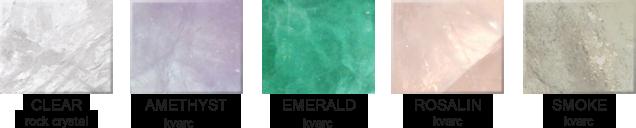 Hegyi kristály rendelhető színek